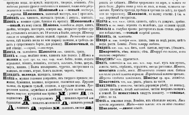 Помощь в словаре даля