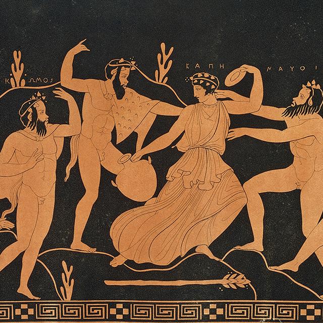 Древнегреческий бог со стоящим членом
