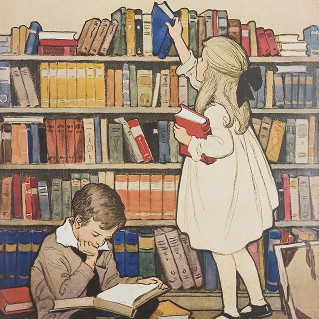 Детские рисунки для библиотеки