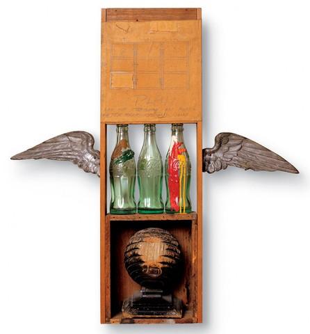 Роберт Раушенберг. Кока-кола: план. 1958 год
