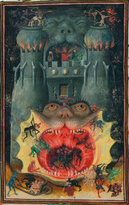 Адская пасть. Часослов Екатерины Клевской. XV век© NYC Morgan Library MS, M 945 fol-168v