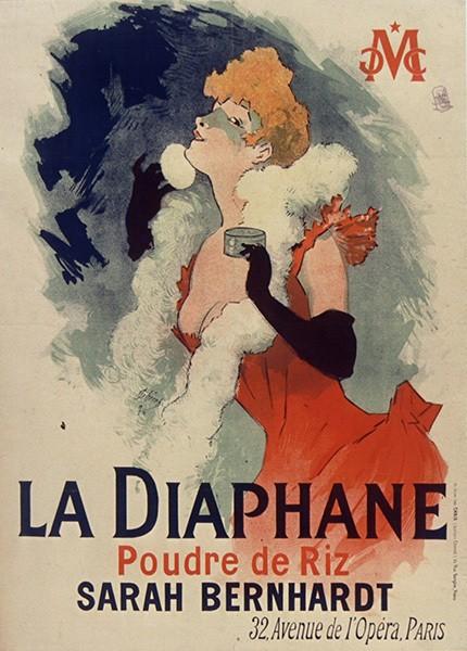 Реклама пудры La Diaphane. Художник Жюль Шере. 1890 годBibliothèque nationale de France
