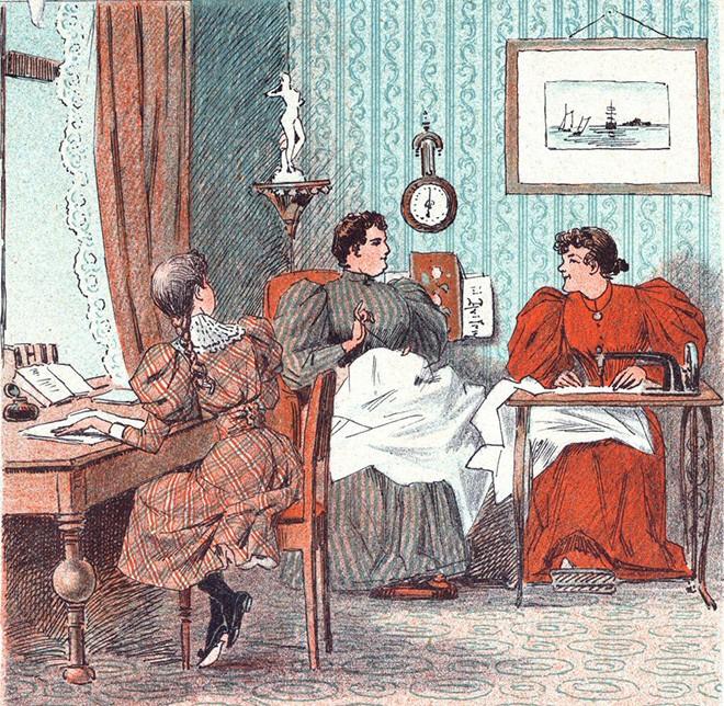 Иллюстрация из датского дамского журнала Puk. № 45, 1894 годWikimedia Commons
