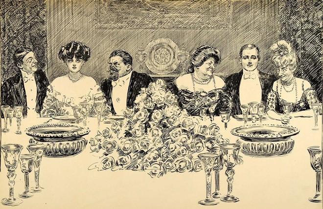 «Упражнения в выражениях». Карикатура Чарльза Дана Гибсона. 1906 годPeriod Paper