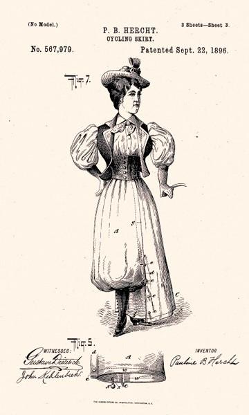 Патент велосипедной юбки. 1896 годCycling History