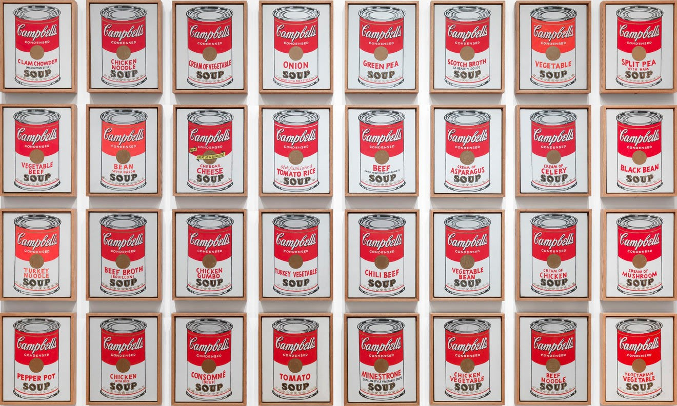 Энди Уорхол. Банки супа Campbell. 1962 год