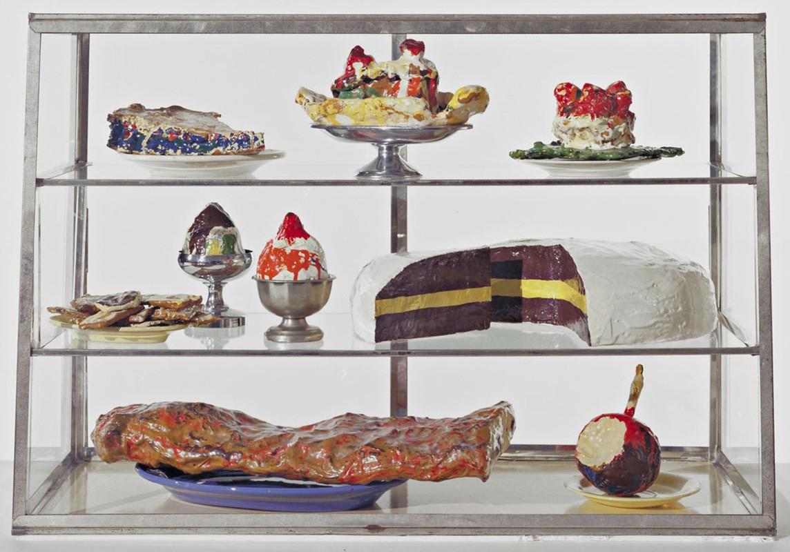 Клас Олденбург. Магазин: витрина с пирожными. 1962 год
