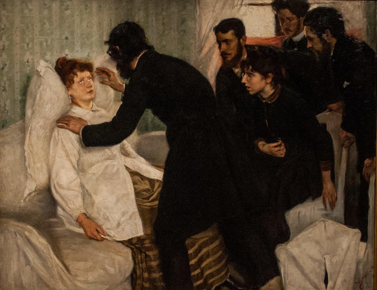 Ричард Берг. Сеанс гипноза. 1887 годNationalmuseum, Stockholm