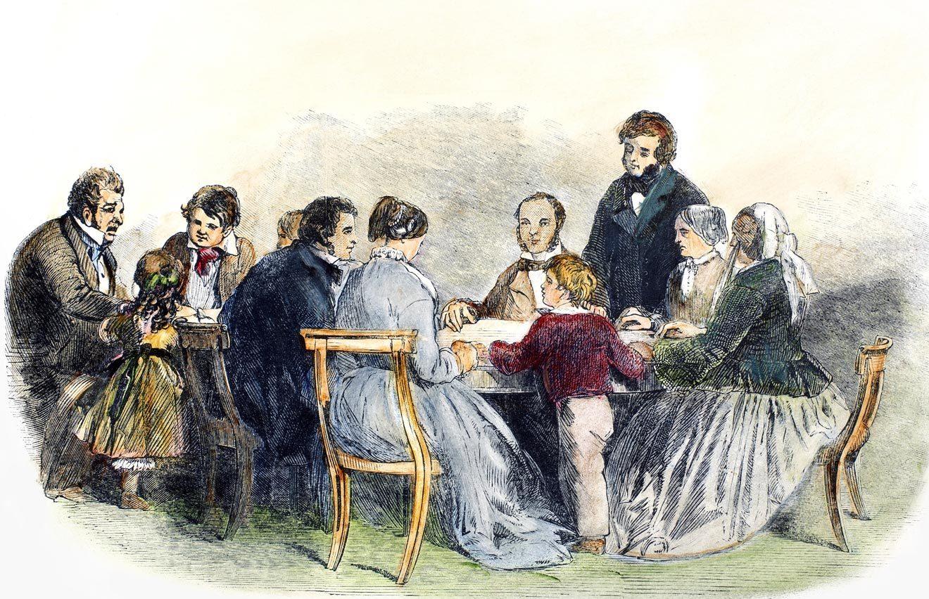 Спиритический сеанс (Сеанс столоверчения). 1853 годGranger / Diomedia