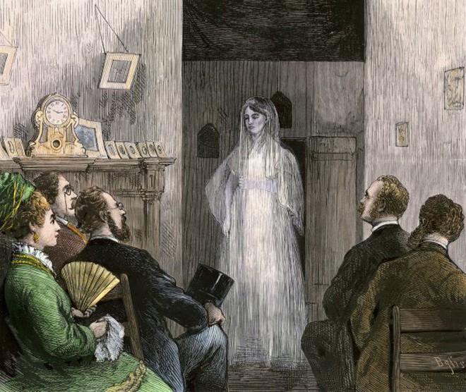 Появление призрака на спиритическом сеансе. 1870-е годыKeywordhouse