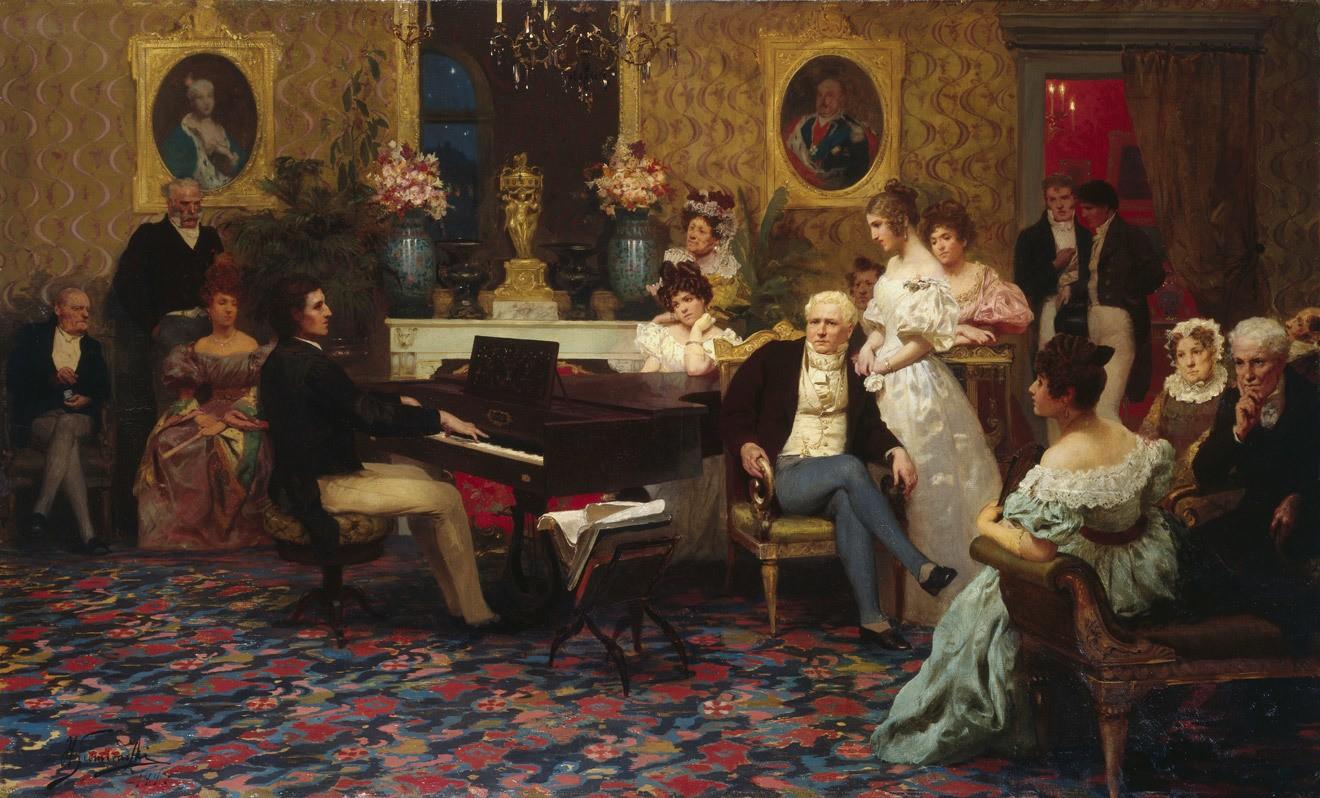 Генрих Семирадский. Шопен, играющий на фортепиано в салоне князя Радзивилла. 1887 год/Wikimedia Commons