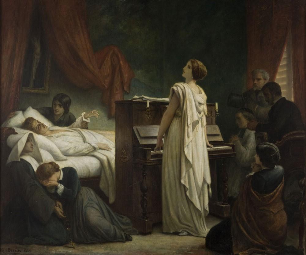 Феликс-Жозеф Барриа. Смерть Шопена. 1885 год / Muzeum Narodowe w Krakowie