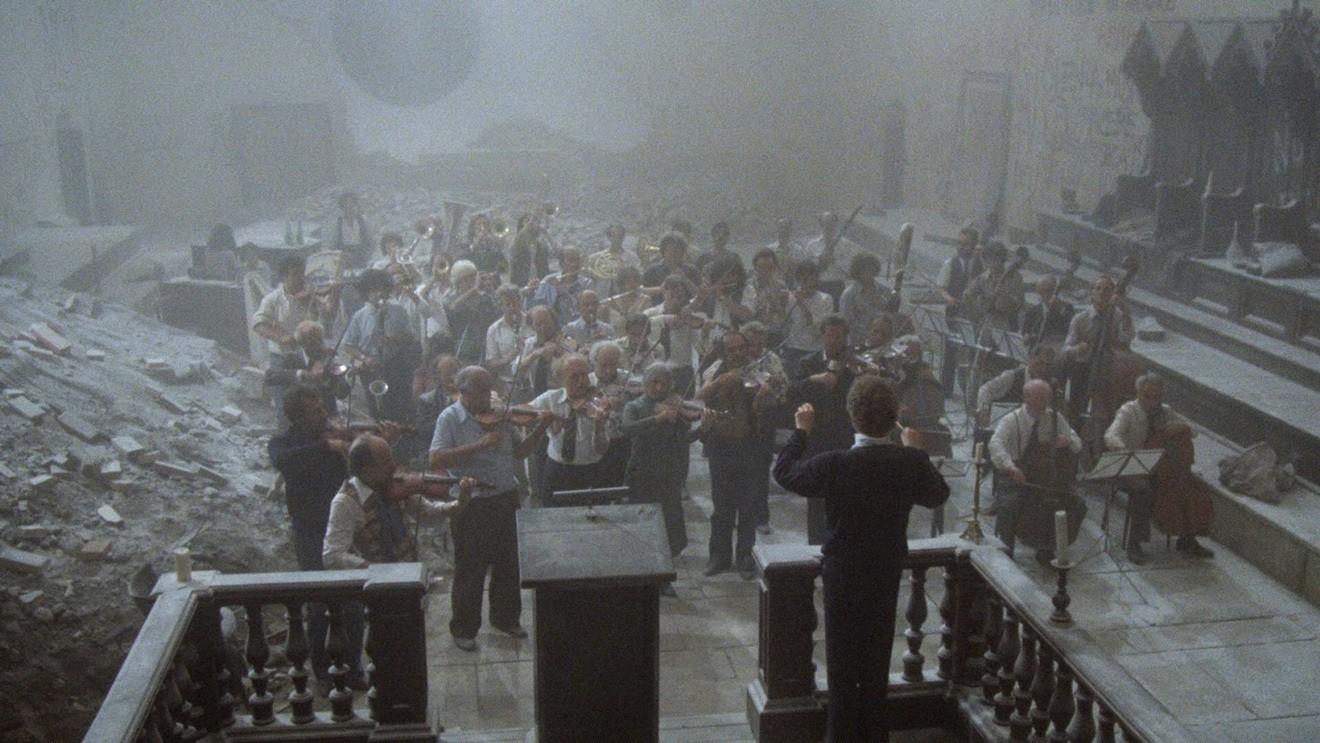 Кадр из фильма «Репетиция оркестра»© Radiotelevisione Italiana; Daimo Cinematografica; Albatros Produktion