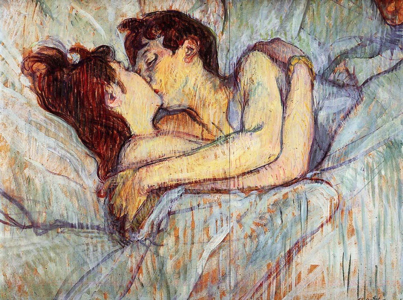 В постели: поцелуй. Анри де Тулуз-Лотрек. 1892 годЧастное собрание / Arthive