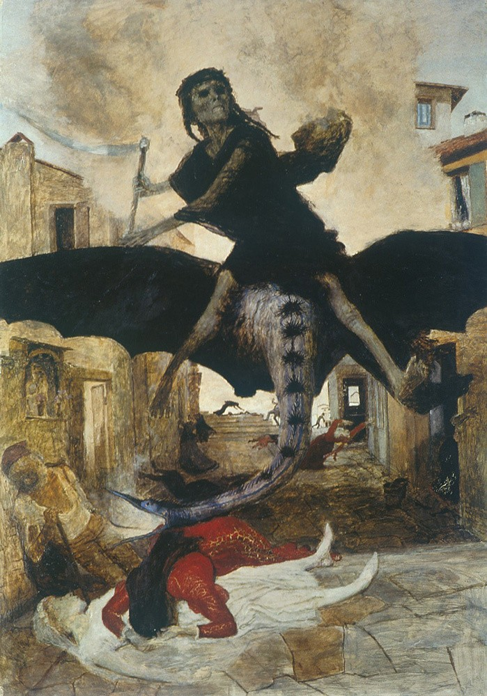 Чума. Арнольд Бёклин. 1898 год / Kunstmuseum Basel