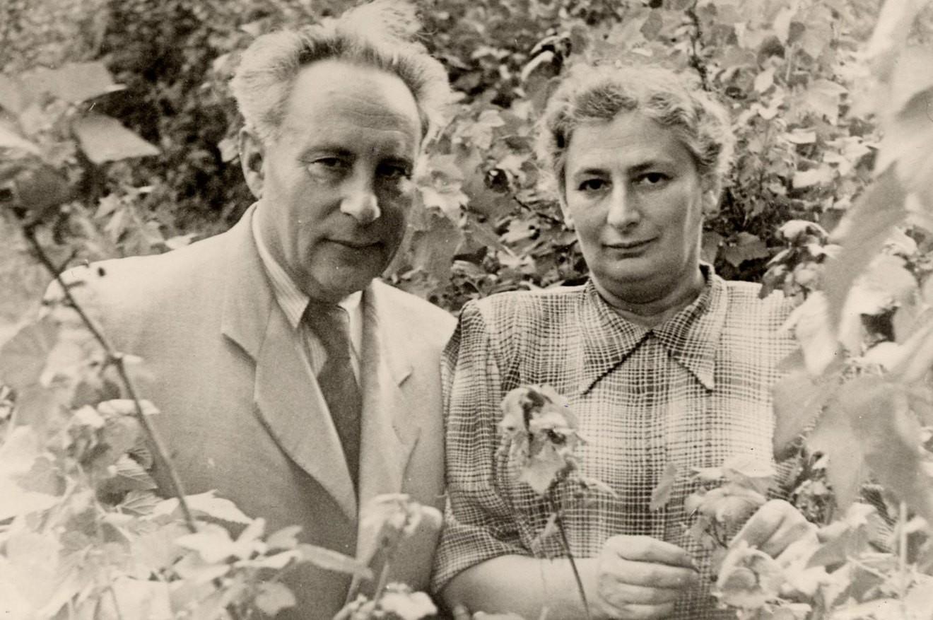 Лев Квитко с женой Бертой. Конец 1940-х годов © Ghetto Fighters' House Archive