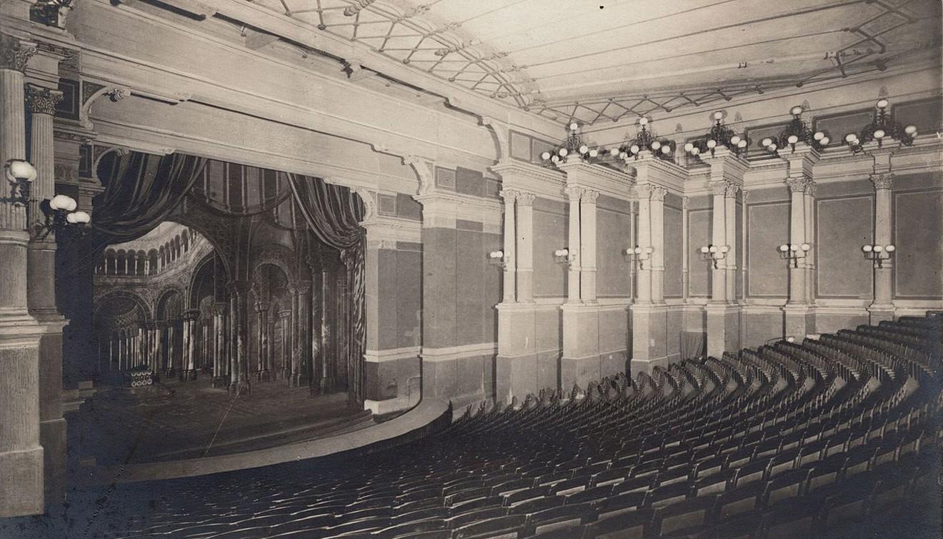 Концертный зал фестивального театра в Байройте. 1910-е годы / Andreas Praefcke's postcard collection of theatres and concert halls worldwide