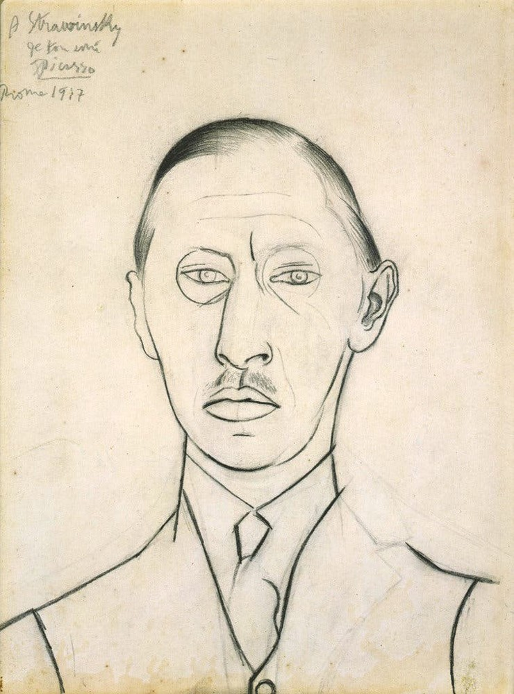 Пабло Пикассо. Портрет Игоря Стравинского. 1917 год / © Estate of Pablo Picasso