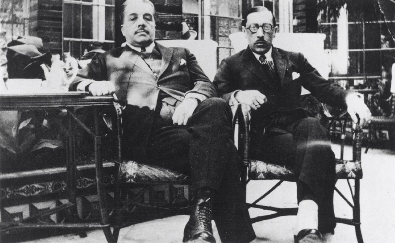 Сергей Дягилев и Игорь Стравинский. Испания, 1921 год / Victoria & Albert Museum