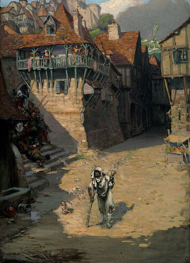 Проказа. Картина Ричарда Теннанта Купера. Около 1912 года / © Richard Tennant Cooper / Wellcome Collection