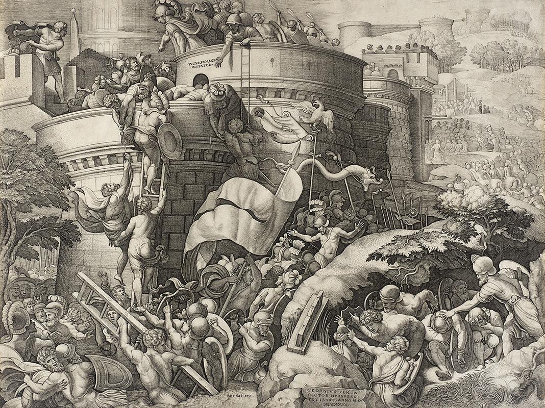 Падение Карфагена. Гравюра Георга Пенца. 1539 год