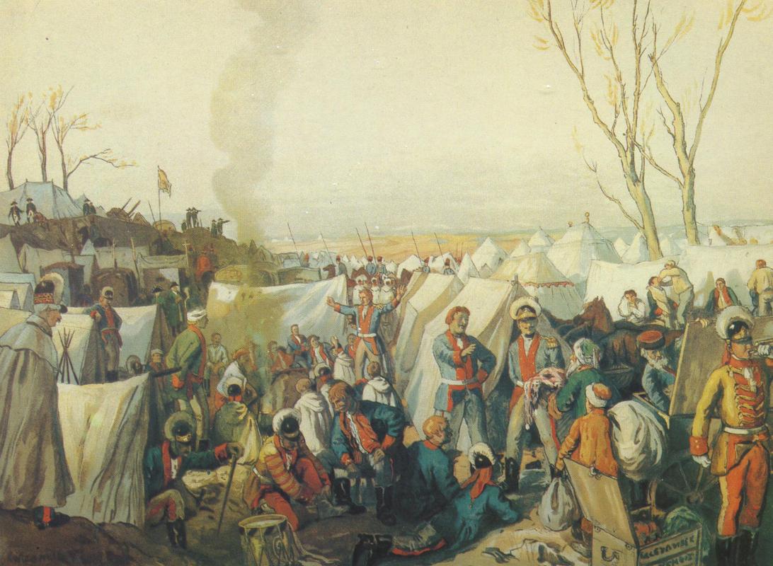Как развлекались и чем жили солдаты и офицеры царской армии XVIII века