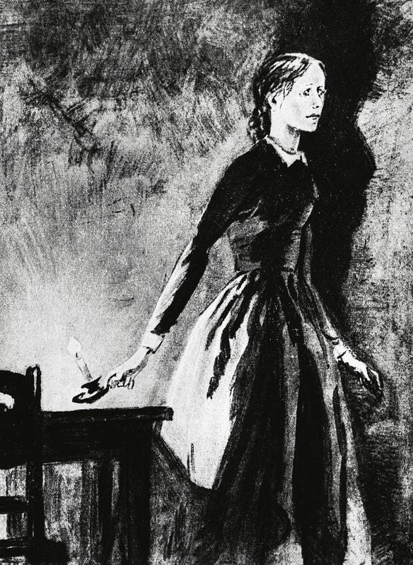 Соня Мармеладова. Иллюстрация Дементия Шмаринова. 1935–1936 годы