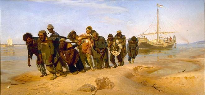 Gli alatori del Volga di Il'ja Repin