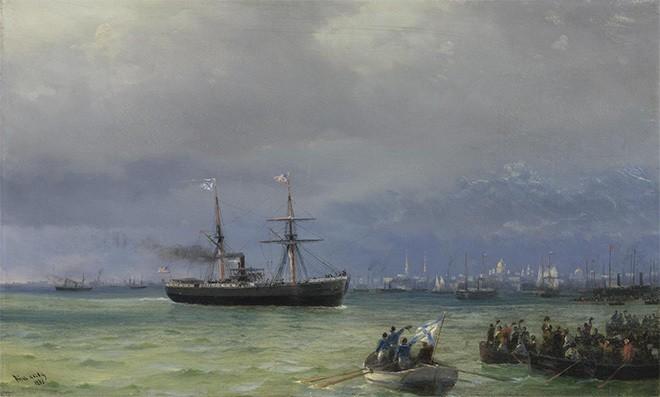 Иван Айвазовский. Корабль помощи. 1892 год