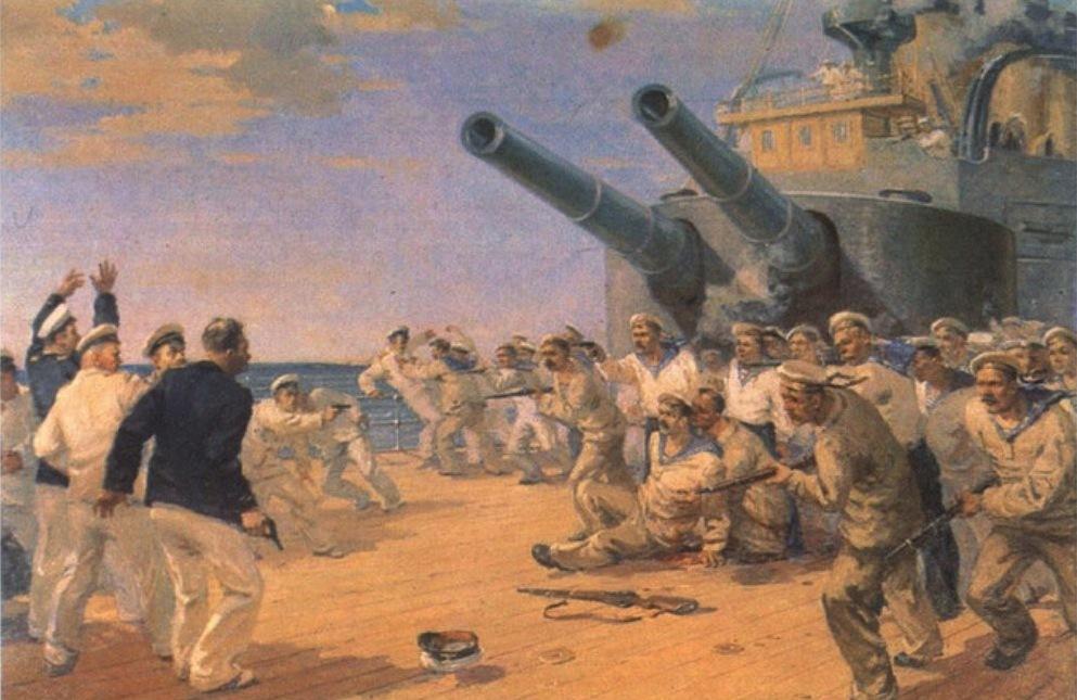 Вооруженное восстание на броненосце «Князь Потемкин-Таврический». Картина Петра Фомина. 1952 год© Wikimedia Commons